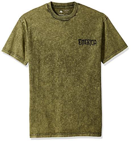 Emerica Herren Crawl SS Tee T-Shirt, Military, Groß