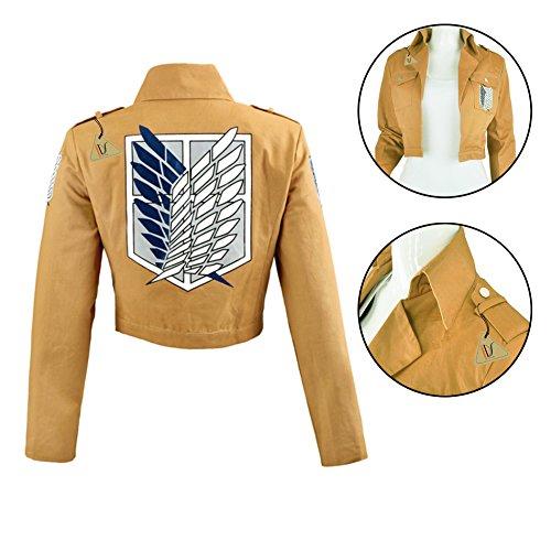 IDS Home Unisex Recon Corps Jacke, Mantel Cosplay Kostüme Mantel Kleidung S braun (Cosplay Kostüm Braun Jacke Mantel)