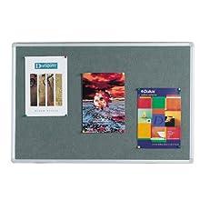 Q Connect 900x600mm Aluminium Frame Notice Board - Grey