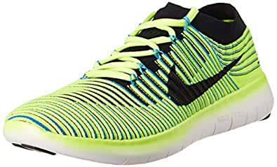 Nike Men's Free Rn Motion Flyknit Florescent Green Running Shoes - 10 UK/India (45 EU)(11 US)(834584-007)