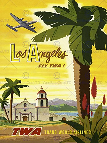 travel-twa-airline-los-angeles-california-palm-usa-vintage-poster-affiche-print-12x16-inch-30x40cm-1