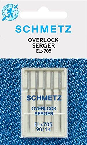 Schmetz Nähmaschinennadeln für Overlockmaschinen ELx705 5xStärke 90
