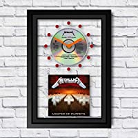 METALLICA - Master Of Puppets: FRAMED CD ART CLOCK/Exclusive Design