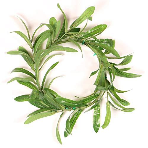 redCherry Künstlicher Olive Wreath-natürlicher Rebe-Grün-Blatt-Kranz für Haustür-Innen- oder Wand-Hochzeits-Inneneinrichtung im Freien(H03-7.8)