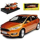 alles-meine.de GmbH Ford Focus 5 Türer 3. Generation Orange Ab 2010 1/18 Paudi Modell Auto mit individiuellem Wunschkennzeichen