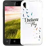 Funda Wiko Sunset 2 Silingsan Funda de Silicona TPU para Wiko Sunset 2 Carcasa Transparente Soft Clear Case Cover Funda Blanda Flexible Carcasa Delgado Ligero Caja Anti Rasguños Anti Choque con Diseño Creativo - Pájaros Voladores