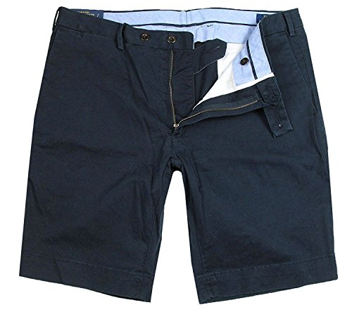 Ralph Lauren Herren Baumwoll-Shorts | Slim Fit navy D1A1E (W36) (Ralph Hosen Lauren Stretch)