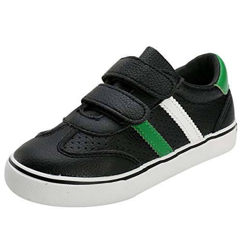 Alexis Leroy, Sneaker a Collo di tela Basso Scarpe per bambini e ragazzi Nero