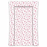 Linens Limited Stars Changing Mat, Pink/White
