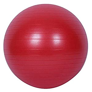 Yoga Ball Stuhl Fitness Übung Ball Balance 55 Cm Pumpe Für Haus Oder Büro,Red,55Cm