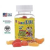 GUMMIKING Fruit-Pectin Based Vitamin D Source of Calcium Absorption Gummy Vitamins-30 Gummies Supplements