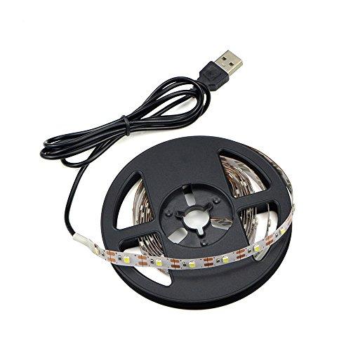 USB-Energie führte Neonbeleuchtung, imprägniern 5M 60leds / m SMD 3528 5V Warmweiß Desktop-PC-Schirm-Hintergrundbeleuchtung, Fernsehhintergrundbeleuchtung, Band-Licht, Seil-Beleuchtung, Küche ab, die Dekor-Band LED-Streifen-Lampe beleuchtet