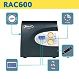 Ring RAC600 Digital Tyre Inflator, 12V Air Compressor Tyre Pump, 3.5 Min Tyre Inflation, LED Light, Valve Adaptors