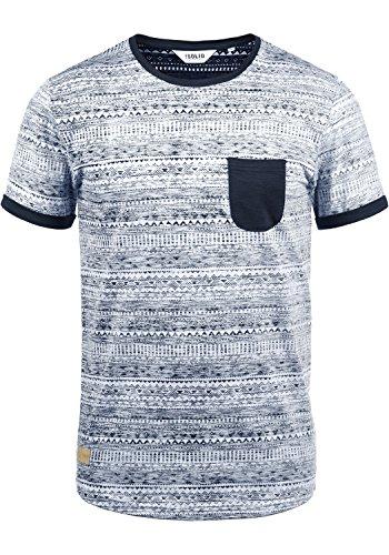 !Solid Ingo Herren T-Shirt Kurzarm Shirt Mit Rundhalsausschnitt und Inka-Print Aus 100% Baumwolle, Größe:XXL, Farbe:Insignia Blue (1991) Inside Out Long Sleeve Sweatshirt