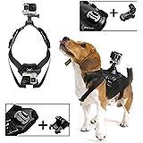 Poppypet Gopro Hund Brustgurt, Hundegeschirr Brusthalterung Kabelbaum harness für GoPro Hero 4 3+ 3 2 1 and SJ4000 SJ5000 SJ6000