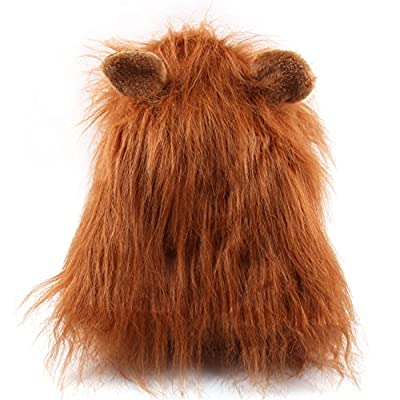 Funny Dog Costume Lion Mane Wig like lion mane Wig For Dog | Halloween Party Christmas Party Fancy Dress Costume