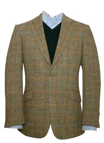 Harris Tweed Herren Jacke beige beige 36 Short (Harris Tweed Sakko)