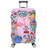 Cubierta de equipaje en Flamingo Form,duradero protector lavable plegable, el tamaño del protector de la maleta se ajusta 18-32 pulgadas (flamenco 1, S)