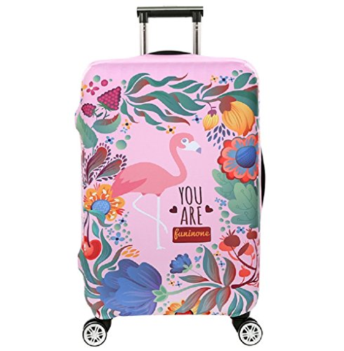 Cubierta de equipaje en Flamingo Form,duradero protector lavable plega