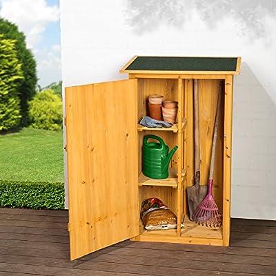 TecTake Holz Gartenschrank Geräteschuppen Flachdach   75 x 56 x 118 cm (BxTxH) von TecTake bei Gartenmöbel von Du und Dein Garten