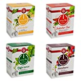 Teekanne easy Tea 4-er Set (6Kräuter, Waldbeere, Indischer Chai und Pfefferminze) Kompatible Tee-Kapseln für Nespresso-Maschinen (40 Stück)