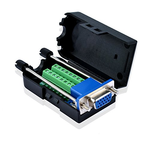 S SIENOC DIY D-Sub 3 Reihe DB15 VGA-Buchse Shell Breakout Terminals Board Anschluss