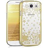 kwmobile Elegante y ligera funda Crystal Case Diseño estrella para Samsung Galaxy S3 / S3 Neo en oro transparente