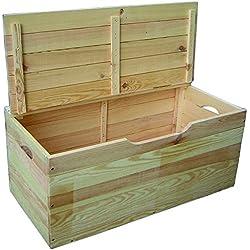 Blinky 7971707Baúl madera hibisco con tapa