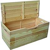 Blinky 7971707- Baúl de madera de hibisco con tapa