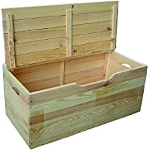 Coffre malle en bois - Coffre a bois de chauffage ...