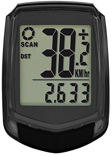 Krippl-Watches Bikecomputer mit 17 Funktionen, Farbe:Schwarz