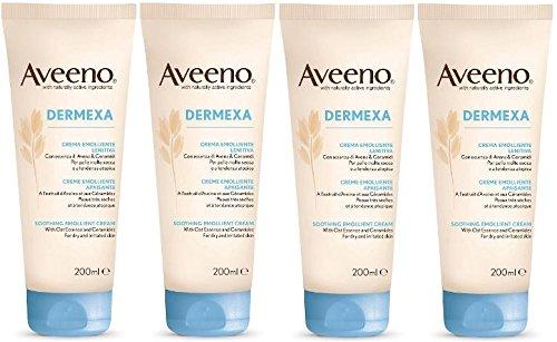 x4-aveeno-dermexa-soothing-emollient-cream-paraben-free-200ml