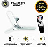 #8: Gorilla Energy Saving 5 Star Rated 1200 Mm Ceiling Fan With Remote Control And Bldc Motor - White