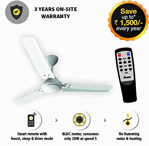 Gorilla Energy Saving 5 Star Rated 1200 Mm Ceiling Fan With Remote...