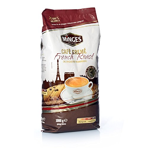 8 x Minges French Roast Cafe Creme Arabica 1 Kg Kaffee Bohne