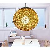 YKQJING Lámpara de bola Creative living comedor hogar Bar restaurante cafetería rota . 80cm