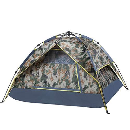 Leichtgewicht HHMGYH 3-4 Personen Familienzelt Outdoor Windschutz Regenproof-Doppel-Flachbildautomat Hydraulic Dome Camping Zelt 1500 mm f/ür Beach Camping//Wandern//H/öhlenpicknick,C