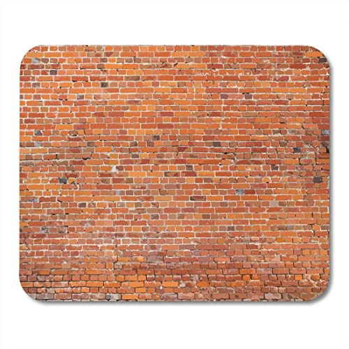 Deglogse Gaming-Mauspad-Matte, Building Red Brickwall Old Brick Wall Brown Concrete Block Mouse Pad, Desktop Computers mats - Brown Brick Block