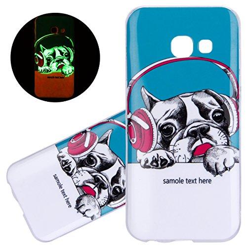 ISAKEN Compatibile con Samsung Galaxy A3 2017 Custodia, Agganciabile Luminosa Caso con Lampeggiante Ultra Sottile Morbido TPU...