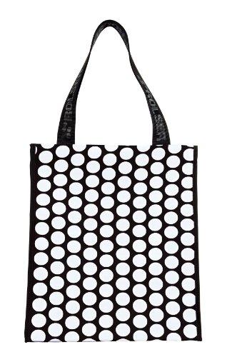 ROLSER Shopping Bag Luna, Borsa con maniglia unisex adulto Multicolore (Nero/Bianco)