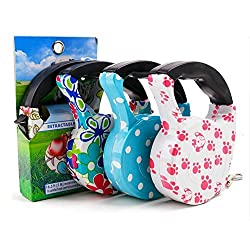 Generic Colorful Stripe, 5 Meter Long : 16.5Ft (5M) Comfort Quality Dog lead Retractable Dog Leash Pet Traction Rope Chain Harness Dog collar Automatic Adjustable