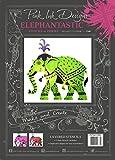 Pink Ink Designs - Plantilla para estarcir (14,5 x 20,5 cm), diseño de elefante, color rosa