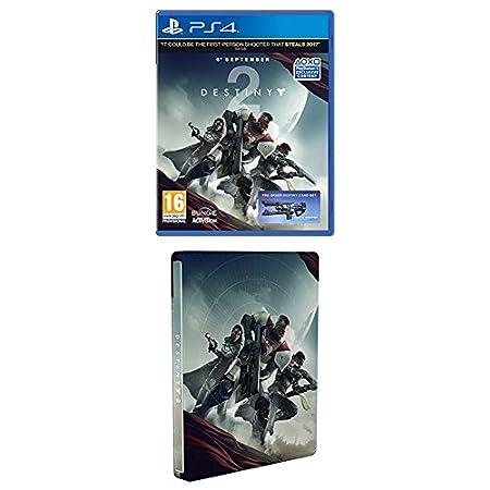 Destiny 2 w/ Salute Emote + Steelbook (Exclusive to Amazon.co.uk) (PS4)