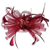 EERTX - ♛♛ Damen Flapper Stirnbänder 1920er Jahre Pfau Stirnband Kopfbedeckung Flapper Stirnband Kopfschmuck Floral Flower Garland Stirnband Vintage-Wunderschön Stirnband für Braut Feder Stirnband