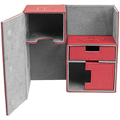 Ultimate Guard Twin Flip'n'Tray Deck Case 160+ Standard Size XenoSkin Red Ultimate Guard