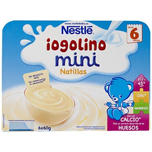 Nestlé Iogolino Natillas - Paquete de 6 x 60 gr - Total: 360 gr