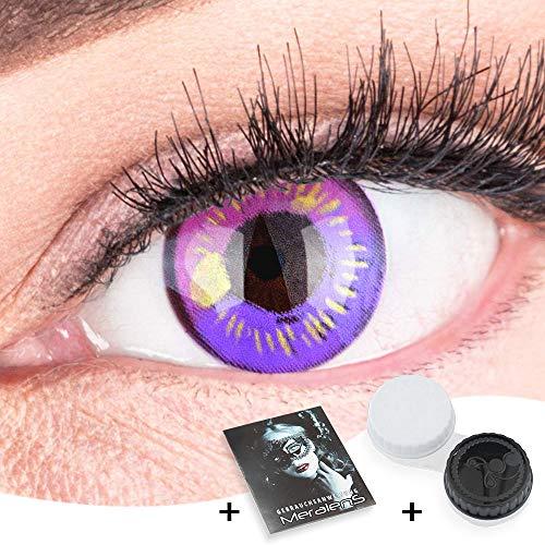 Farbige Lila Kontaktlinsen Anime Violet Circle Lenses Heroes Of Cosplay Stark Deckend Ohne Stärke mit gratis Linsenbehälter