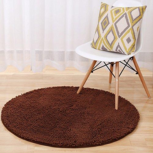 Zeafeel Rutschhemmend Chenille Shag Badteppich, Weich saugfähig Küche Fußmatte im Bad Teppich Teppich 2 ft Round Coffee -