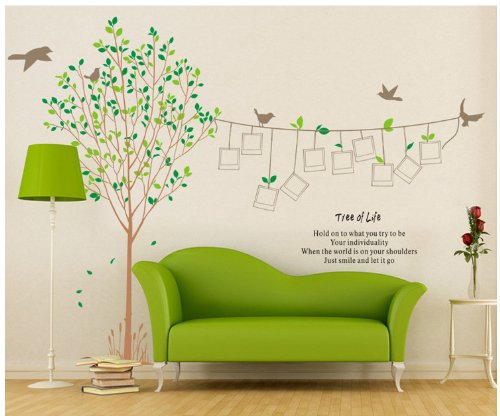 Topro X Large Photo Trees Tree of Life Frames Wall Art Stickers Decal for Home Room Decor Decoration by Topro