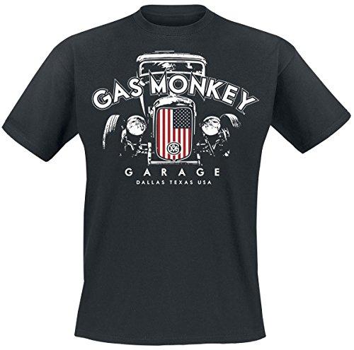 Gas Monkey Garage T-Shirt Patriotic Hot Rod 2 Black-M